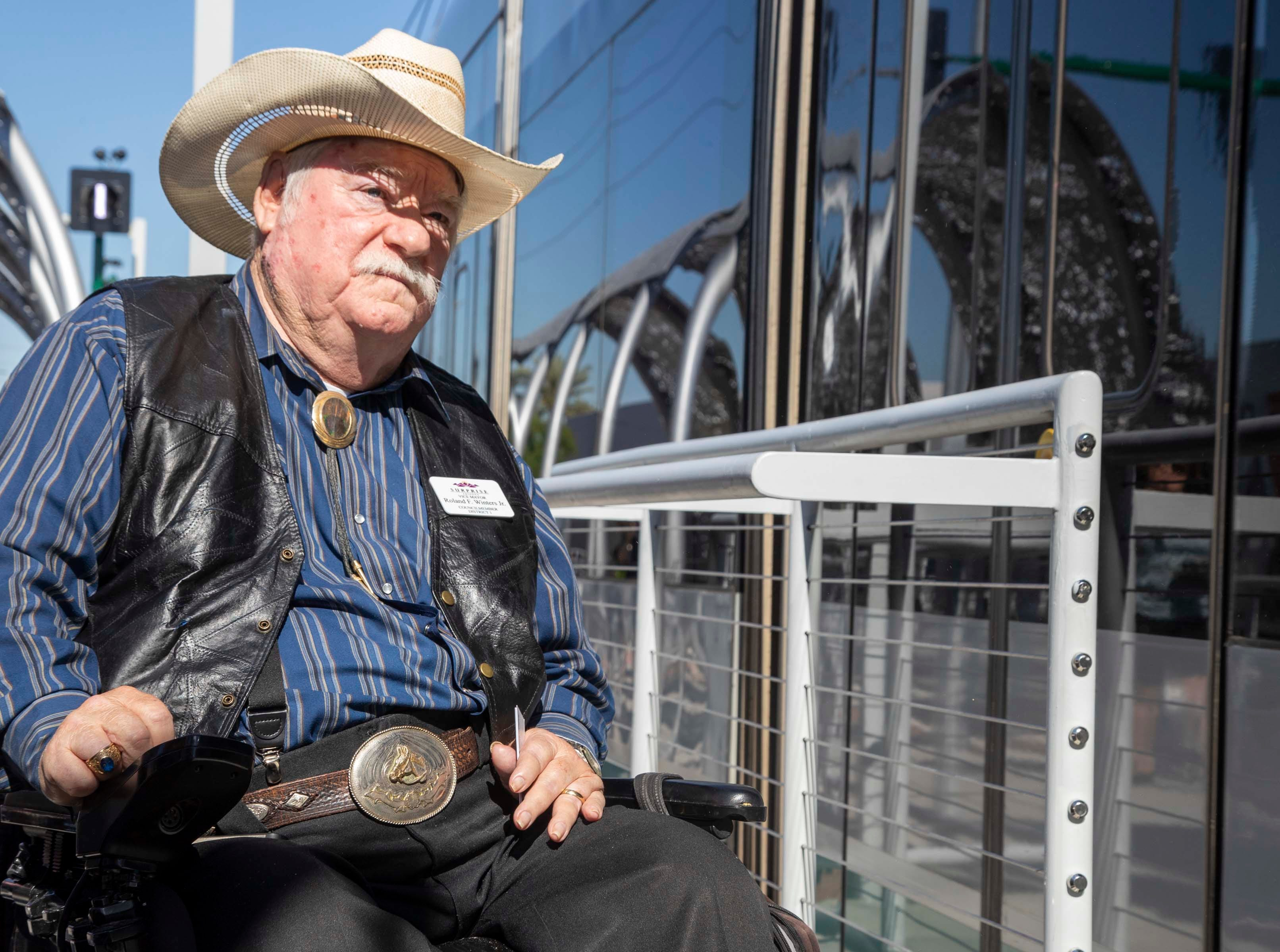 Surprise Vice Mayor & Council member District 1, Ronald F. Winters Jr. attends the unveiling of the new 50th Street and Washington light rail station, which will provide additional access to Ability 360, one of Arizona's largest disability resource centers.
