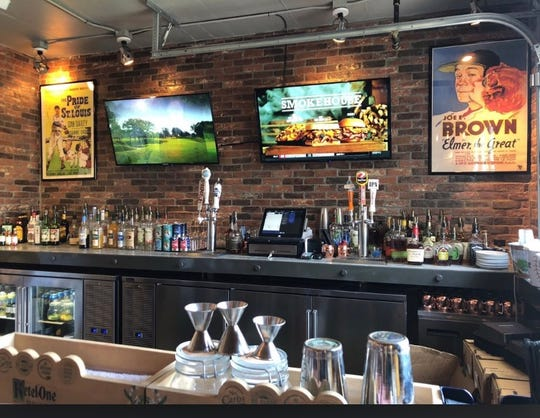 Matty G's Steakburgers & Spirits offers a full bar and flatscreen TVs.