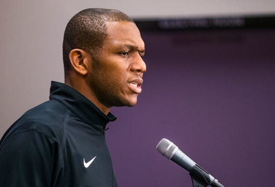 James Jones addresses the media on April 24 for the first time since being named the Suns' general manager and announcing the termination of Igor Kokoskov as head coach.