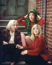 "Rebecca Schull (from left), Amy Yasbeck and Crystal Bernard star in a 1996 episode of ""Wings."""