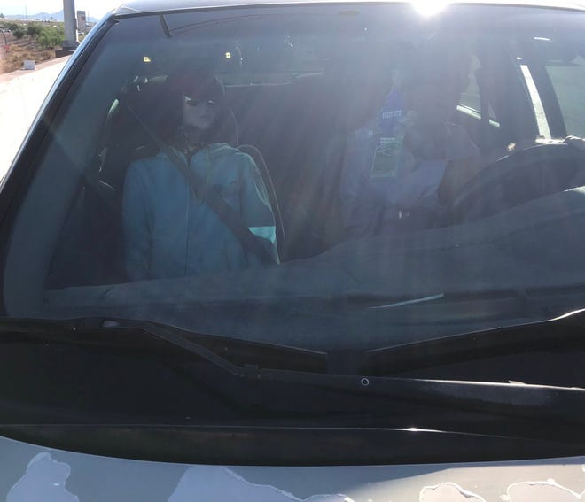 A DPS trooper stopped a man in an HOV lane on Loop 303 in the Southeast Valley  who attempted to use a mannequin as a passenger.