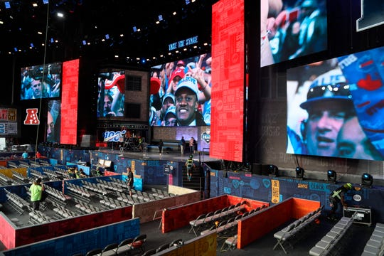 The NFL draft begins Thursday night in Nashville, Tenn.