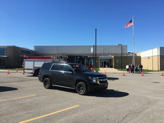 Students were evacuated from Central Middle School following a small electrical fire.