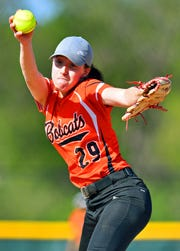 Northeastern's Belle Bortner pitches against Central York during softball action at Central York High School in Springettsbury Township, Wednesday, April 24, 2019. Northeastern would win the game 3-2. Dawn J. Sagert photo
