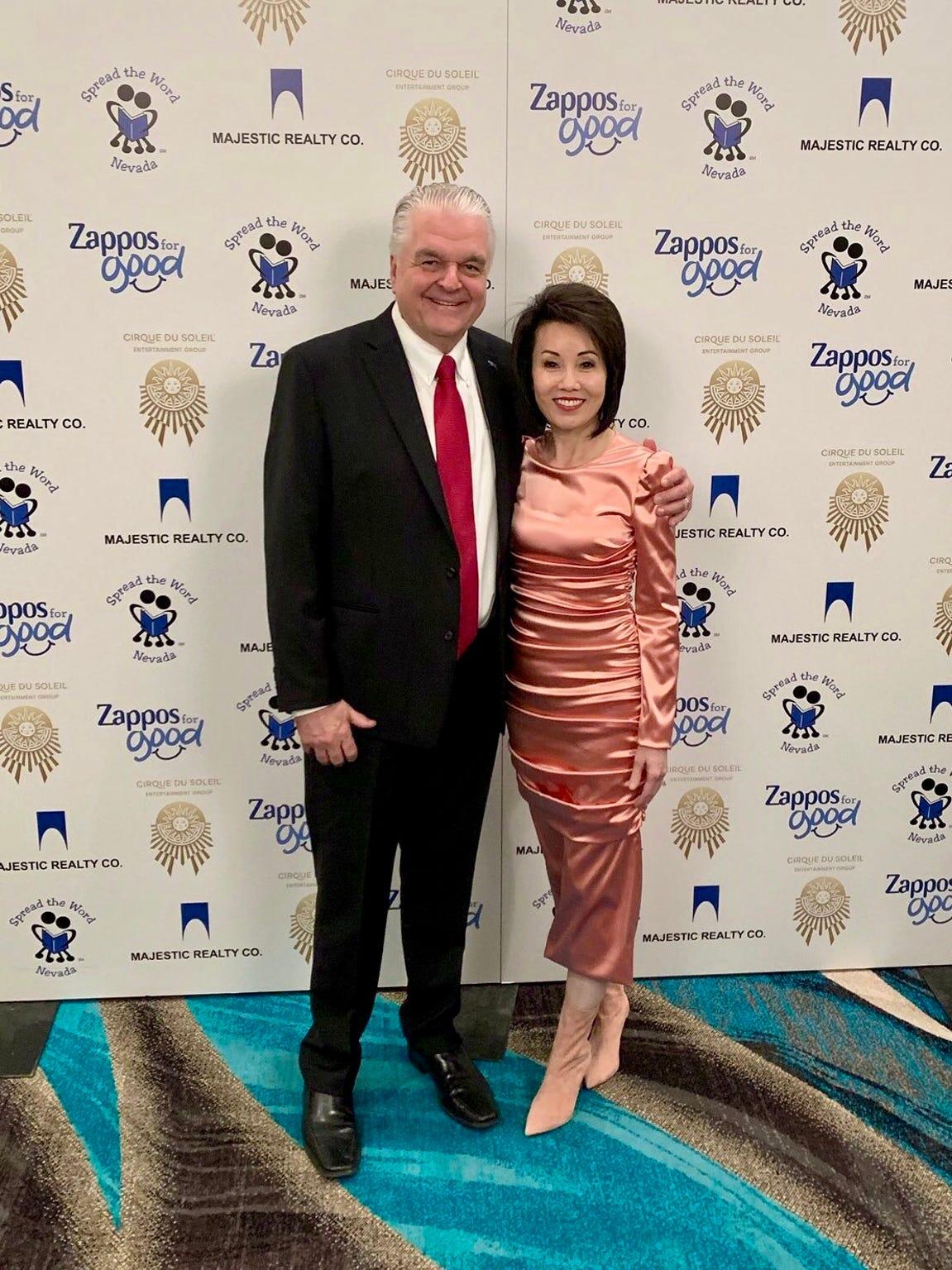 Gov. Steve Sisolak and his wife Kathy.