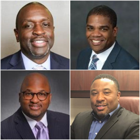 Going clockwise from top left are Eric Thomas, Terry Dade, Devon Horton and Sito Narcisse.