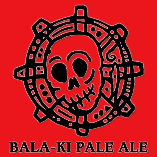 The Bala-ki Pale Ale label features the artwork of Josh LaGoy.