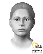 Police believe this may be the face of a young woman whose body was found in a shallow grave in an Irondequoit backyard in 1988.