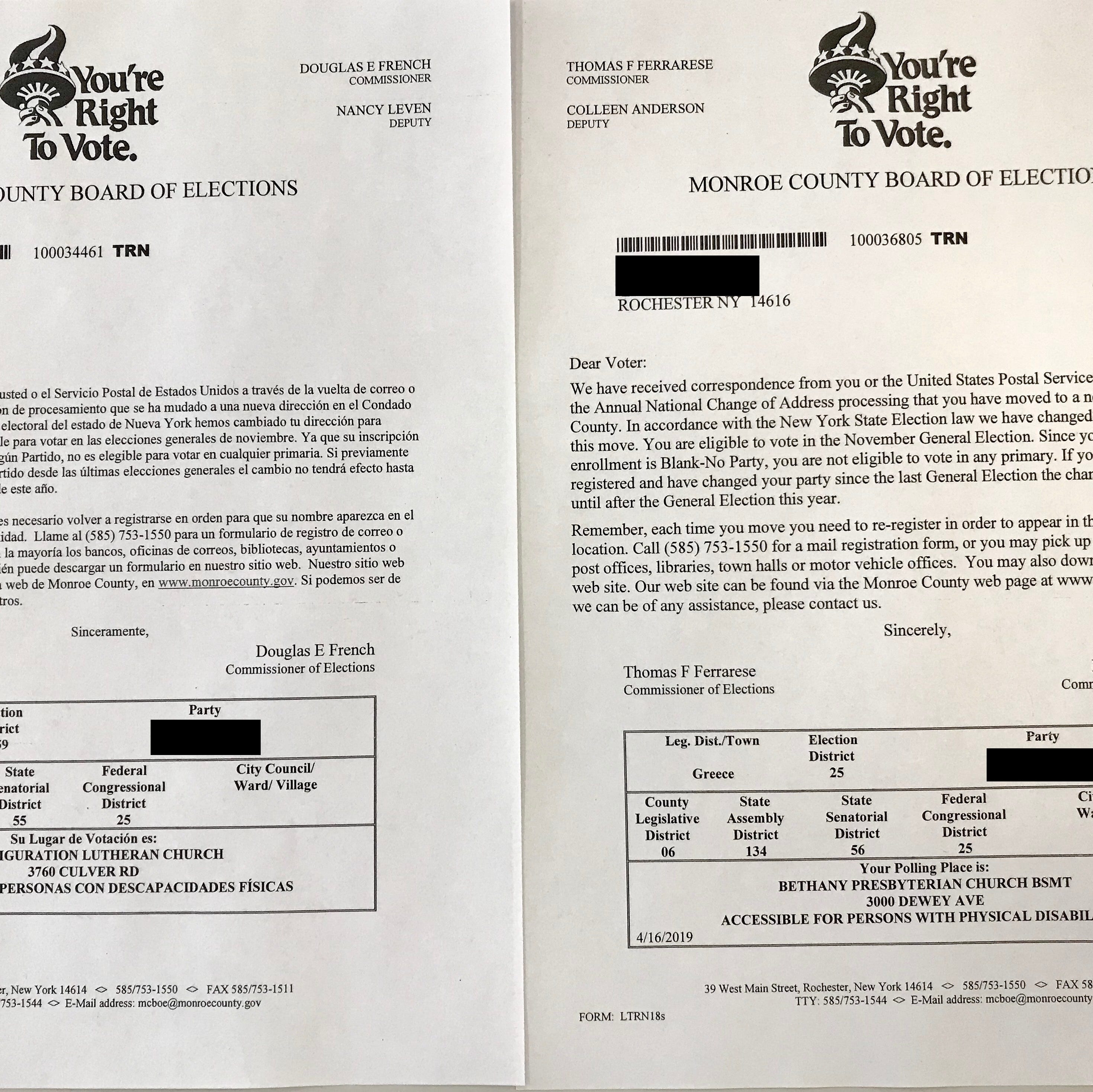 Monroe County Board of Elections snafu sparks odd housewarming gift to 126 voters