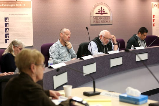 Salem-Keizer Public Schools budget committee meets at the Student Support Services Center in Salem on April 23, 2019.