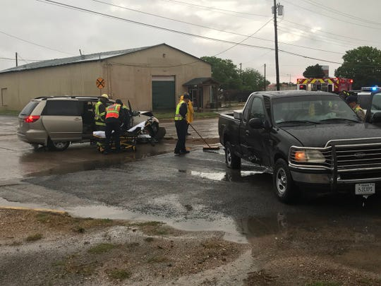 A Ford F-150 failed to yield a stop sign and hit a Toyota Van Wednesday, April 24, 2019.