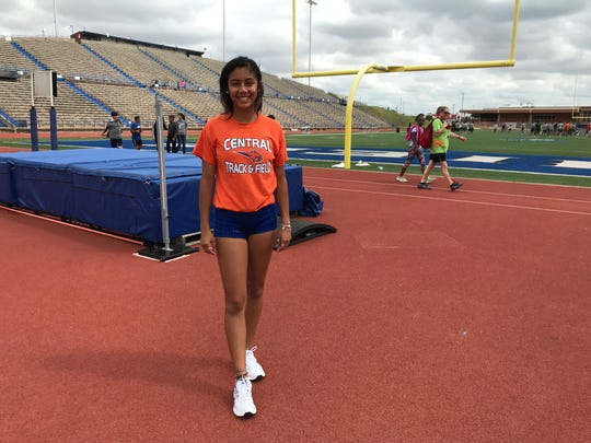 San Angelo Central's Yasmine Contreras is qualified to the Region I-6A Track and Field Meet in girls high jump.
