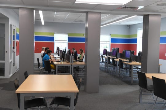 Inside the new Delmar Public library where they held a dedication ceremony on Wednesday, April 24, 2019.