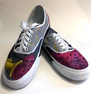 """Sheboygan South High School is one of the top 50 schools in the Vans Custom Culture competition. These are the """"Off the Wall"""" pair."""