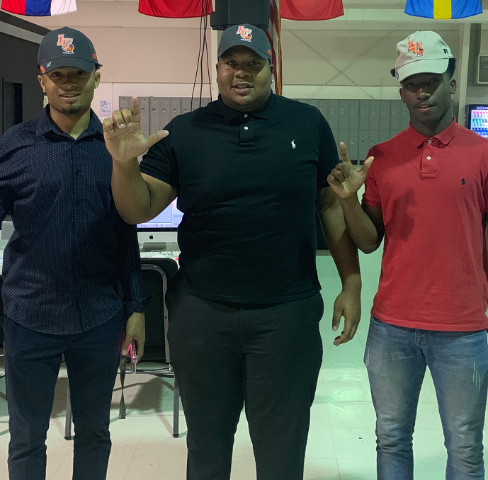 Three more Evangel football players sign with Langston