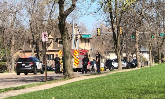 A motorcycle crashed at 18th Street and Phillips Avenue on April 24, 2019.