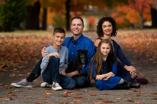 This is Chad Plein's family: his wife, Cati, and their children, Coy and Chyler.