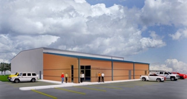A rendering of the new US Baseball Indoor Training Facility.