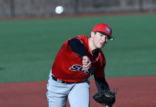 Dominic Austing is 5-0 with a 2.83 earned-run average this season for the St. Cloud State baseball team.