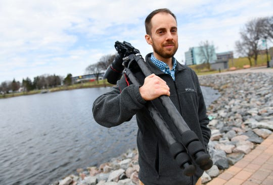 Photographer David Barthel is pictured Wednesday, April 24, in St. Cloud. In June, Barthel is releasing a book of photography centered on Duluth and the North Shore.