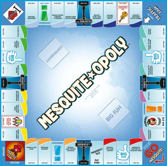 A closer look at the Mesquite-opoly board game by Late For The Sky