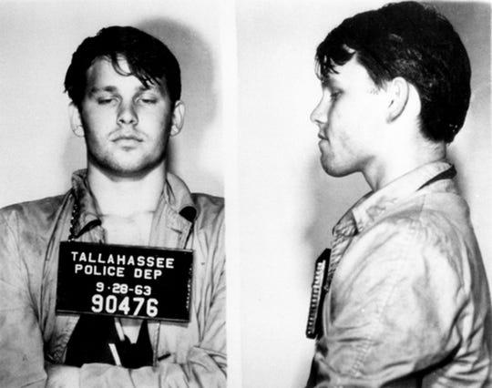 Jim Morrison's TPD mugshot from 1963.