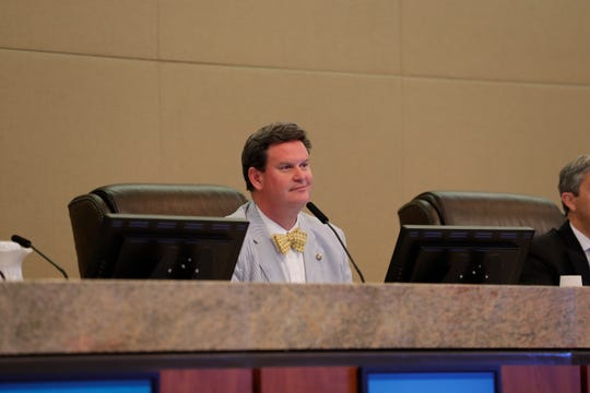 Mayor John Dailey listens during a City Commission meeting at City Hall Wednesday, April 24, 2019.