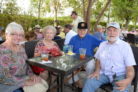 Kathy Baril, left, Catherine and Elden Tetzlaff and Raymond Baril at the Spring Forward for Hunger event in Indiantown, benefiting Treasure Coast Food Bank.