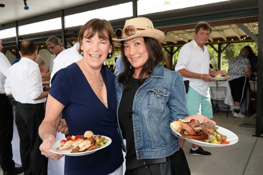 Debby Wing and Jeanie Ladd at the Spring Forward for Hunger event in Indiantown, benefiting Treasure Coast Food Bank. Held at Kai Kai Farms, the Food Bank raised enough to provide 288,000 meals for those struggling with hunger on the Treasure Coast.