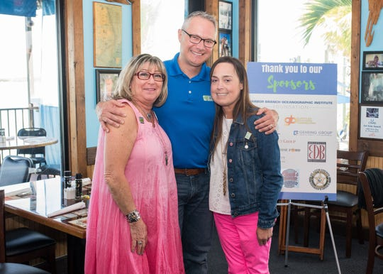 Tax Collector Chris Craft, center, with Sharon Schwab Cohen, whose son saved three lives through organ donation, and Maria Gamboa, who received a life-saving double-lung transplant. Both women shared their stories at the Local Celebrity Lunch.