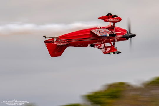 Clemens Kuhlig of Chefpitts Airshows is performing with the Stuart Air Show at the July Fourth Flying over Flagler Park event.