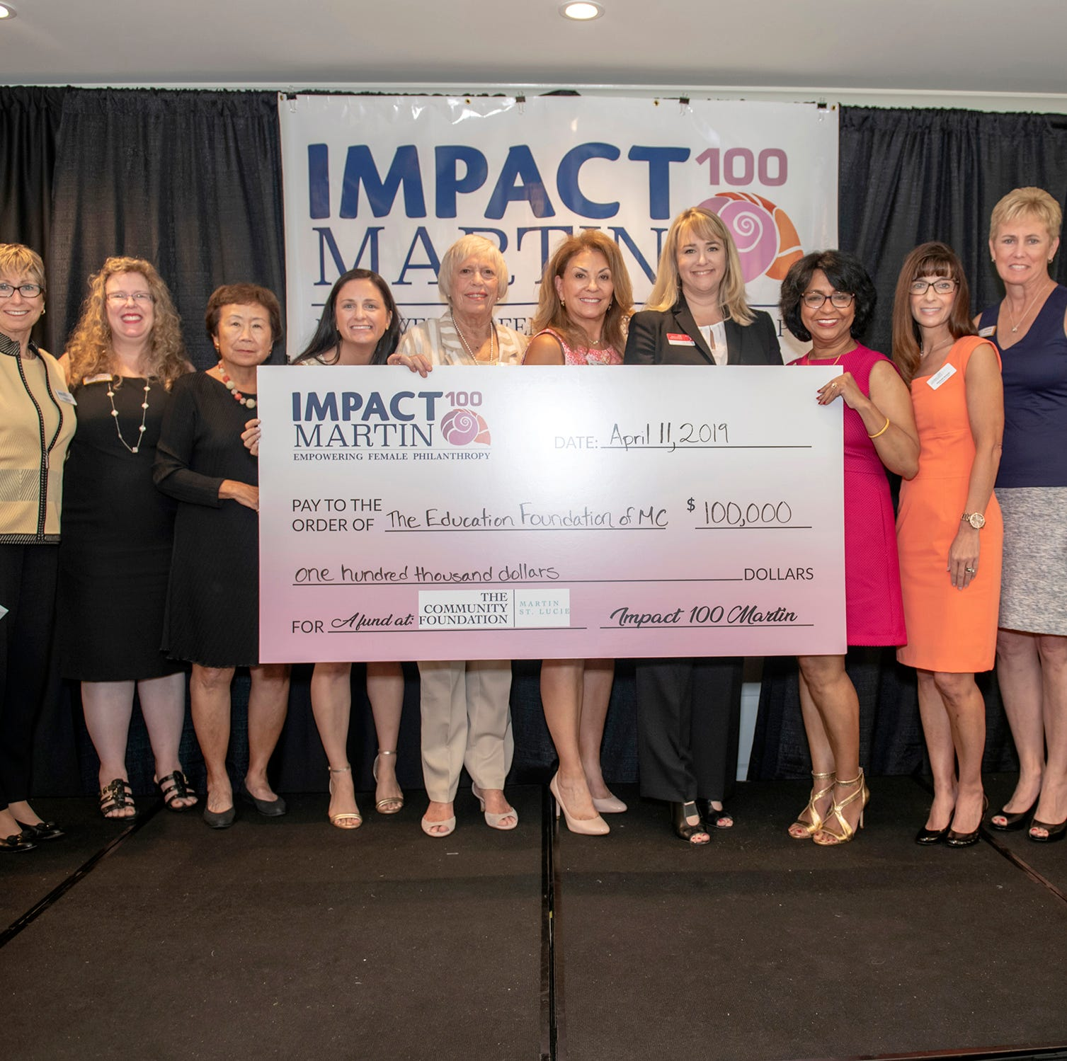 Education Foundation of Martin County takes home $100,000 Impact 100 grant