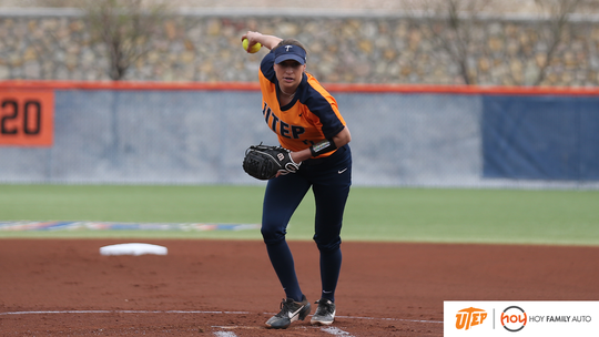 UTEP softball pitcher Julia Wright is the Conference USA pitcher of the week