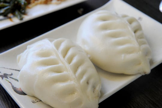 A sweet bean curd dumpling dessert is ready to be eaten at Tasty China in Ventura.