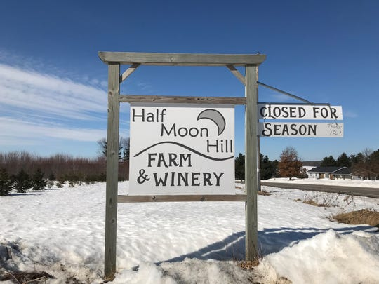 Half Moon Hill Farm & Winery is closed for the season every winter as owners Sadie and Gerrid Franke work through the cold. It will open for the 2019 season the first weekend in May.