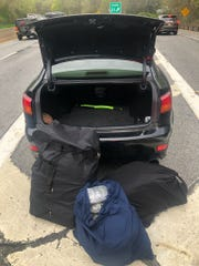 Westchester County police pulled over a Lexus on the Hutchinson River Parkway near Weaver Street for a traffic violation and said they found weed in the car.
