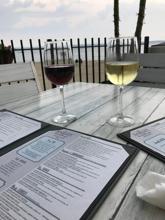 Wine and a view: Dinner at The Barley Beach House in Rye come with a beach view.