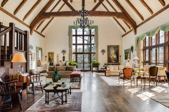 The Great Room has 40-foot ceilings.