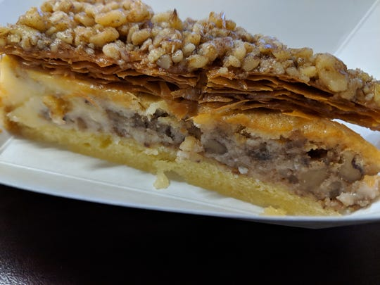 Baklava cheesecake at The Simple Greek.
