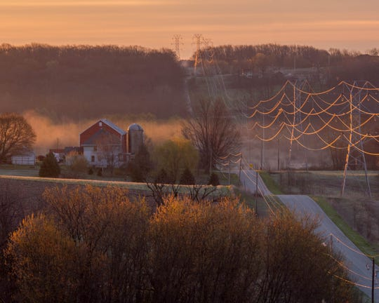 A proposed 345-kilovolt transmission line could cut across hundreds of farms along its 102-mile route across southwest Wisconsin, including in the Driftless Area.