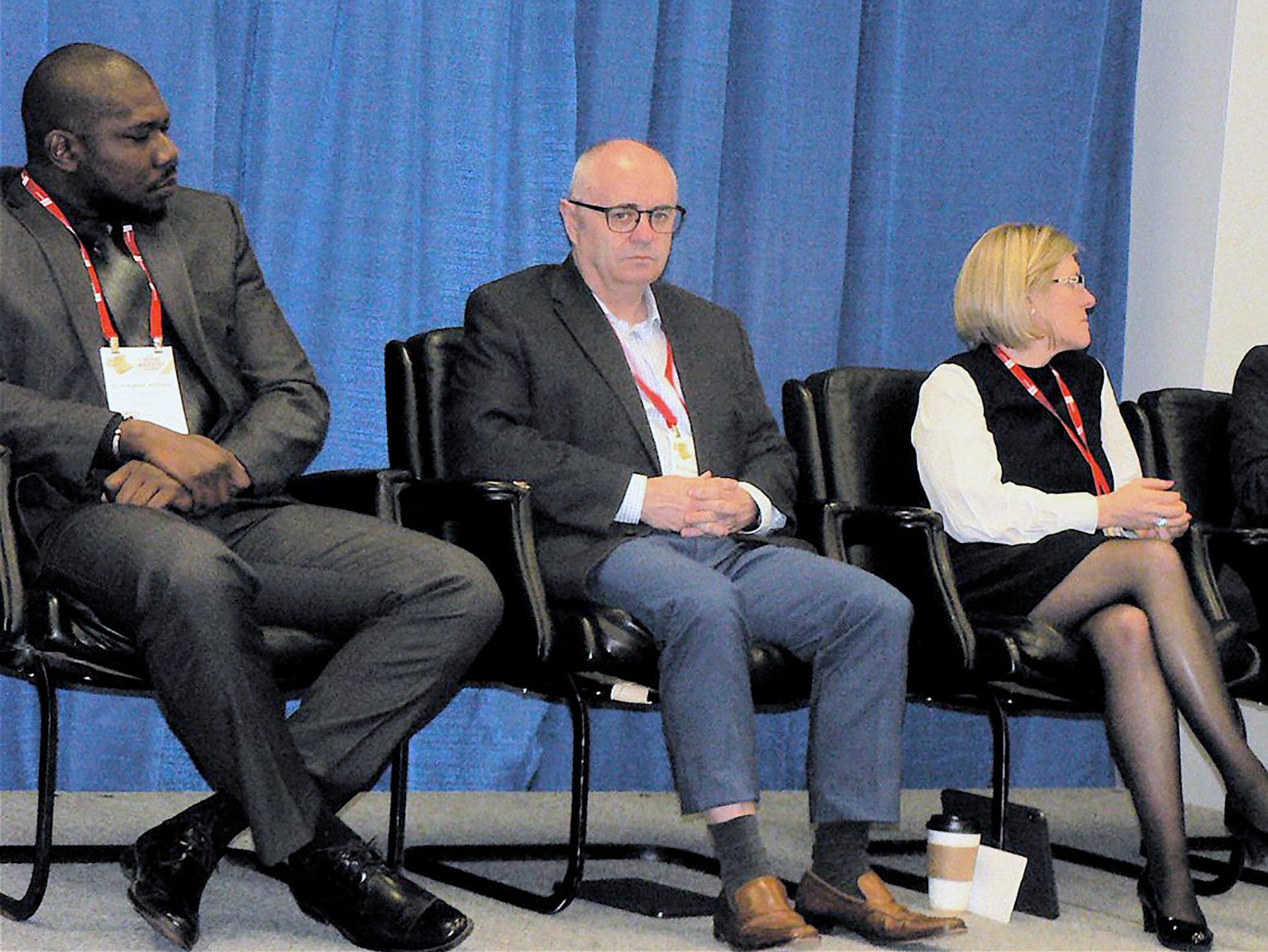 A panel discussion centered on export sales.