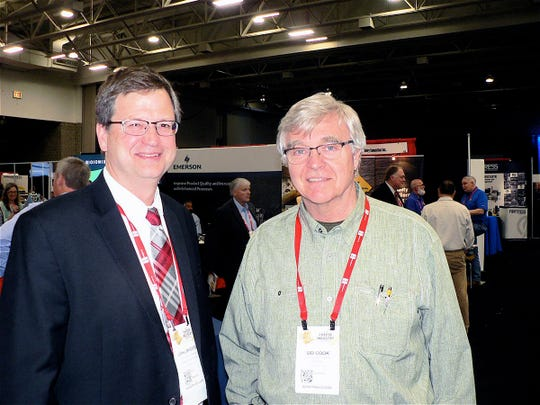 John Umhoefer, of WCMA and Sid Cook of Carr Valley Cheese wondered why the attendance was so high - 400 more people than the previous high.