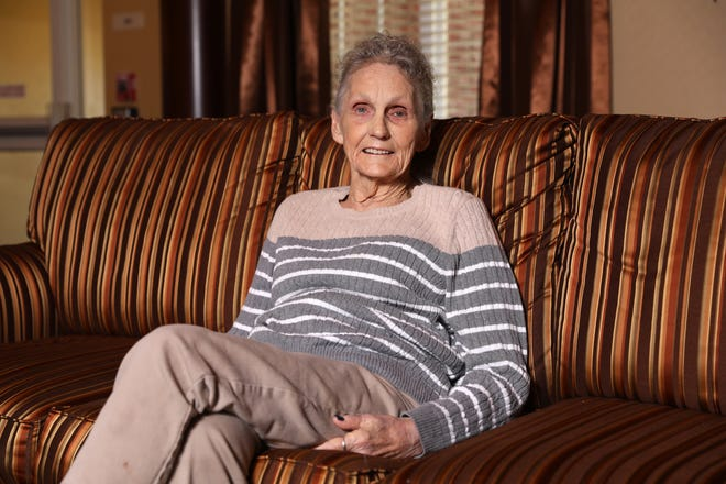 Connie Bocook smiles as she talks about her trip to Wheeling.