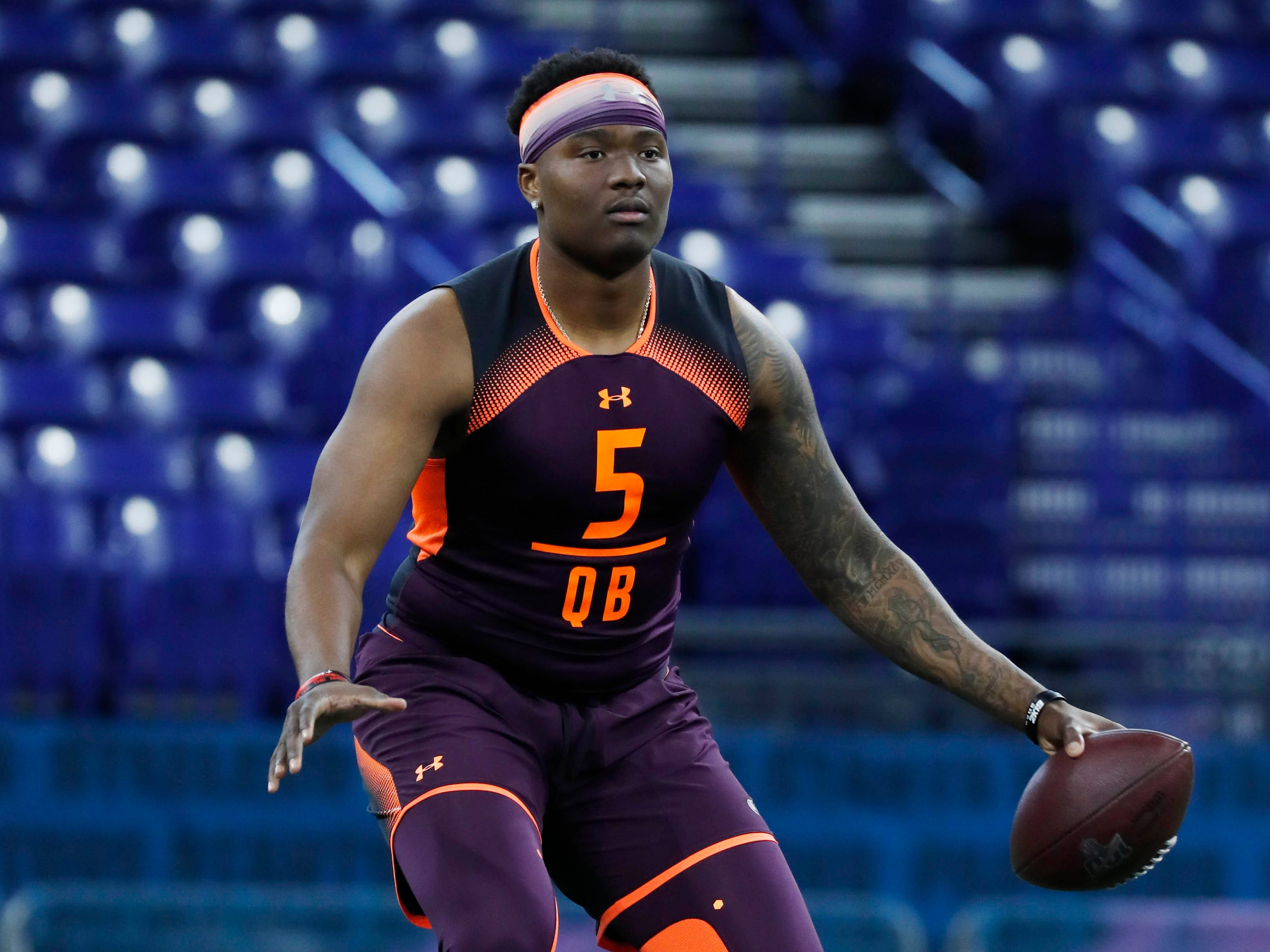 PROJECTED TRADE 8. Redskins (from Lions) — Dwayne Haskins, QB, Ohio State