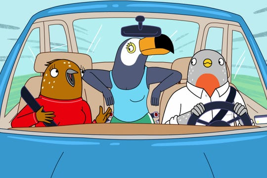"Ali Wong and Tiffany Haddish star in ""Tuca and Bertie,"" out May 3."