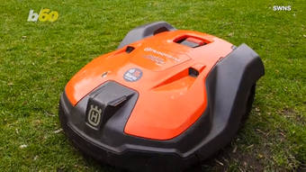 This grass cutting robot may look like something out of the future but it's a reality at several parks.