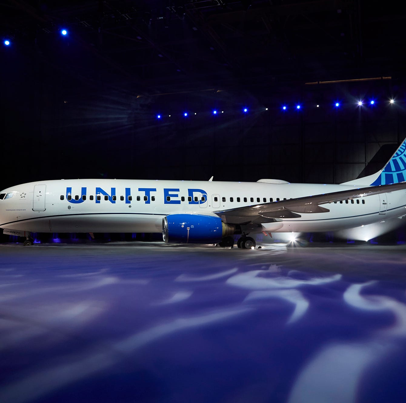United Airlines unveiled its new livery on a 737-800 at Chicago O'Hare airport on April 24th, 2019.