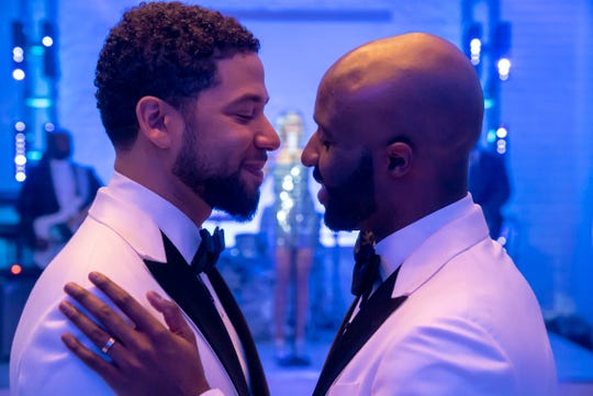 """Jamal Lyon (Jussie Smollett) married his boyfriend (Toby Onwumere) in the April 24 episode of Fox's """"Empire,"""" marking his potential exit from the series."""