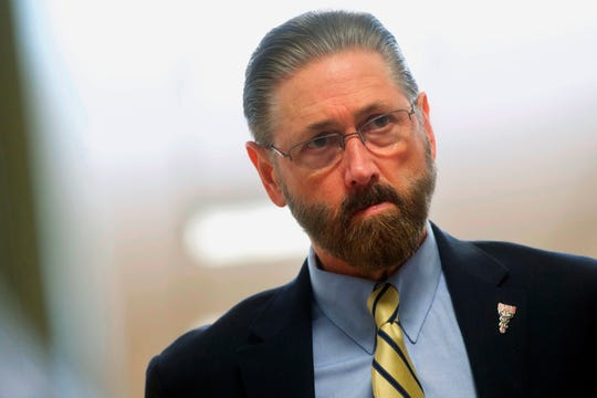 Judge Steven O'Neill, Bill Cosby's trial judge, at the Montgomery County Courthouse on April 26, 2018.