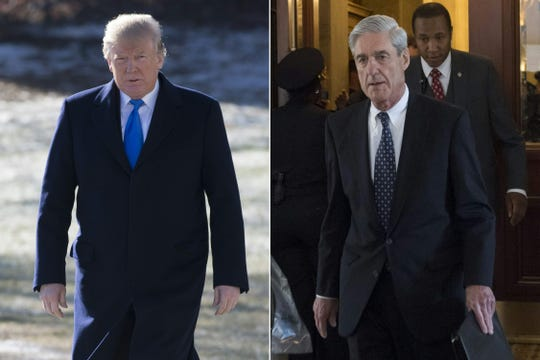 President Donald Trump and former special counsel Robert Mueller